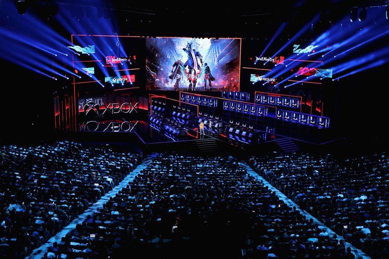 El escenario que montó Microsoft para la presentación de los títulos que llegarán a su familia de consolas en los próximos meses