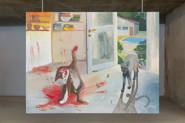 Pintura de Mayra vom Brocke, joven artista que obtuvo una mención especial en la séptima edición del premio Fundación Andreani
