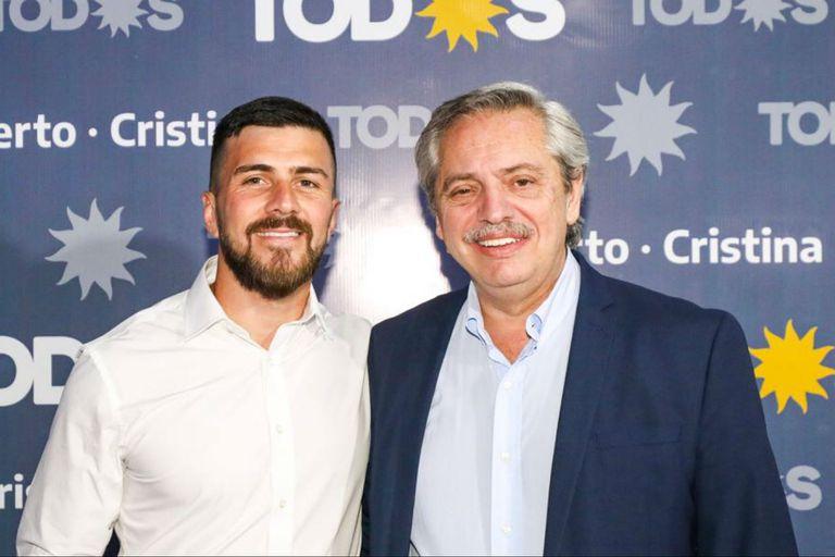 Ruiz Aragón con el presidente Fernández