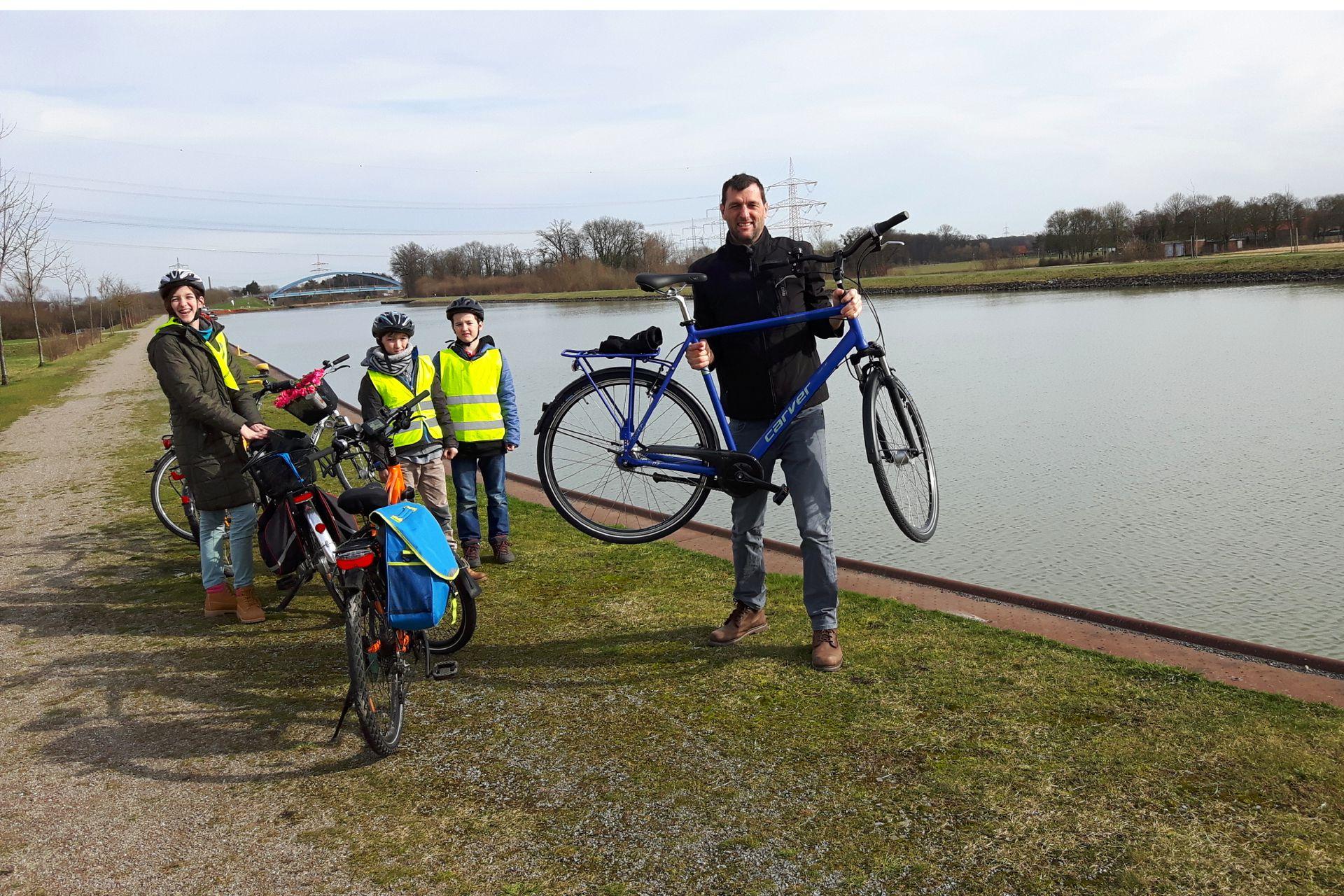 La familia Degener disfruta realizar recorridos por Münsterland, la región en donde viven.