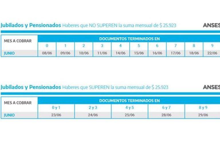 Los pagos de junio de la Anses, según la terminación del DNI