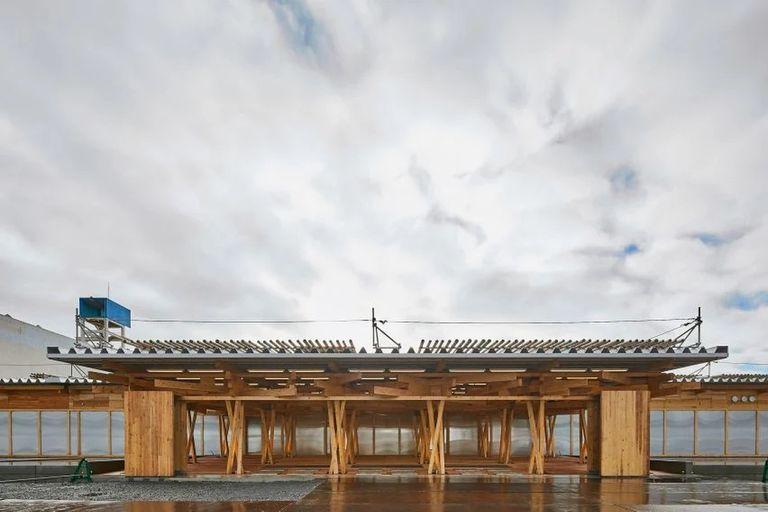 Se construyó con 40.000 piezas de madera japonesa y es desmontable