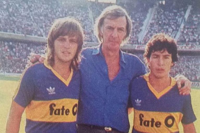 De izquierda a derecha: Jorge Rinaldi, César Luis Menotti y Carlos Tapia.
