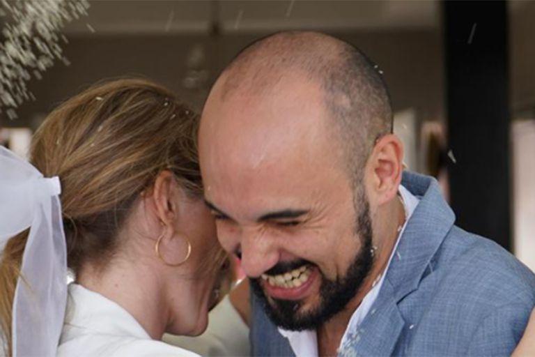 Se casó Abel Pintos con Mora Calabrese, su pareja desde hace 7 años