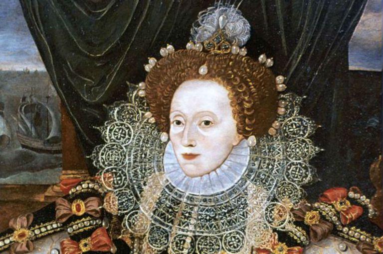 Isabel I adoptó esta icónica imagen, con la cara blanca y los labios pintados