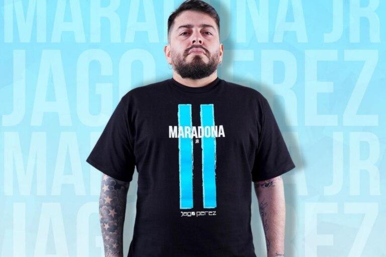 Diego Jr. lanzó su colección de remeras con la marca Maradona: cuánto cuestan