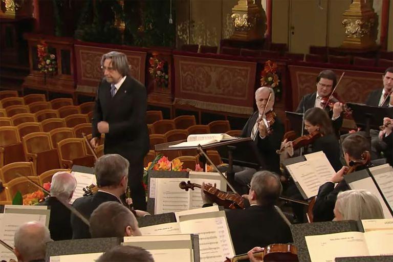 La Filarmónica de Viena realizó su concierto de Año Nuevo ante una sala vacía