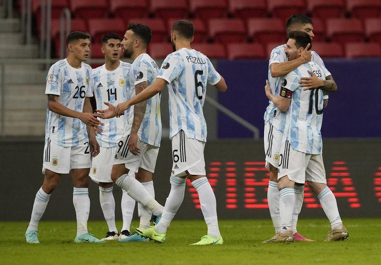Alegría colectiva: la Argentina consiguió un muy buen triunfo contra Uruguay