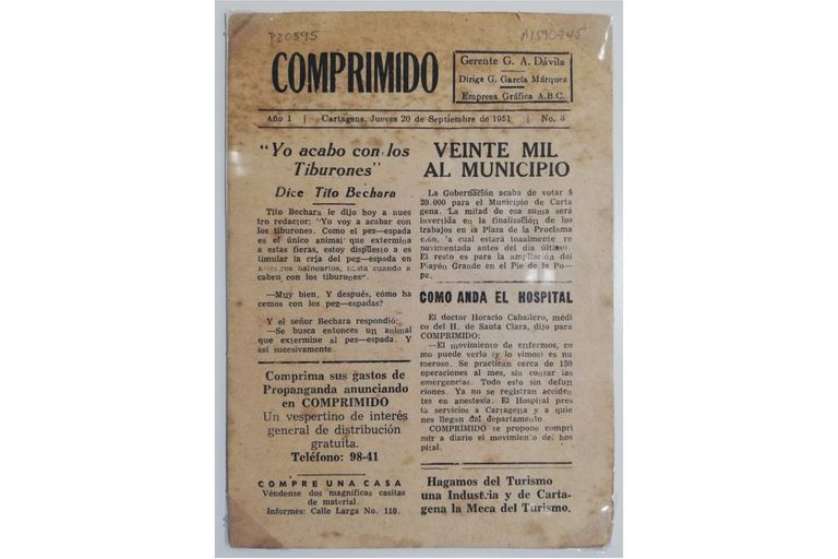 Ejemplar del periódico fundado por García Márquez como intento de supervivencia económica y que aspiraba ser el diario más pequeño del mundo; no se tiene certeza de cuántas ediciones se hicieron