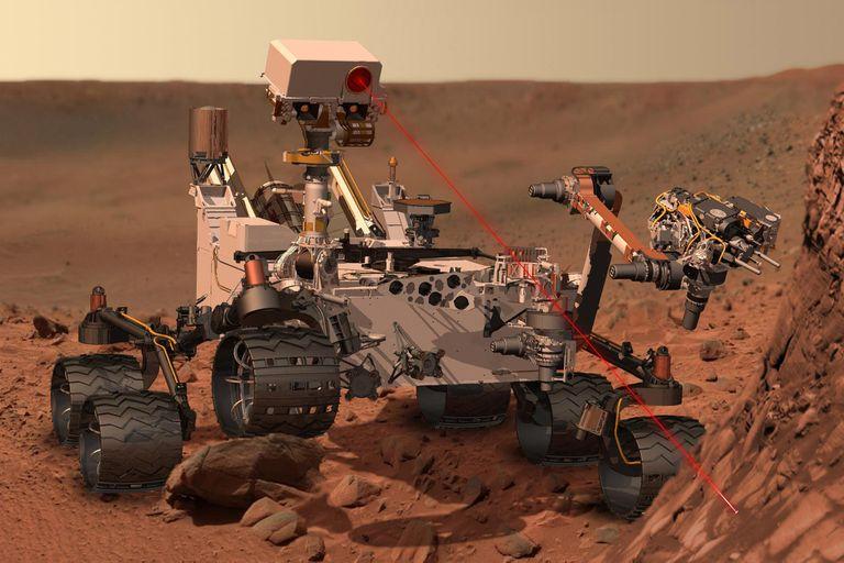 Monte Sharp en Marte fotografiado por la cámara ChemCam del rover Curiosity