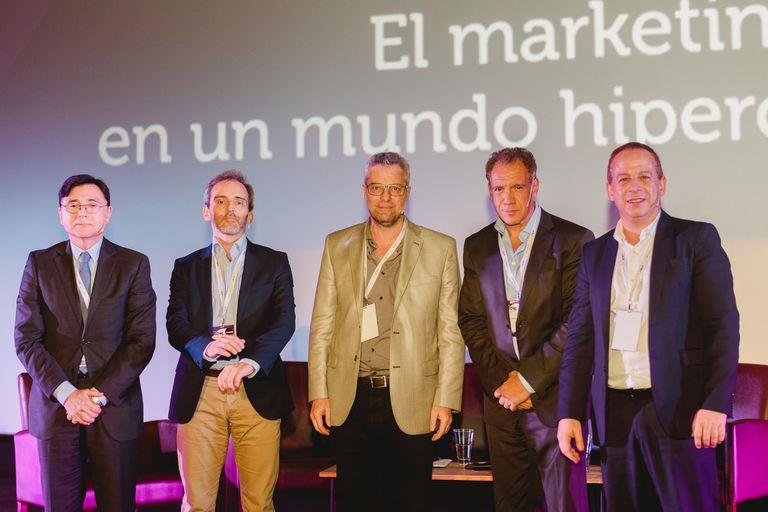 Jorge Fontevecchia, Guillermo Rivaben, Gustavo Buchbinder, Daniel Hadad y Martín Etchevers