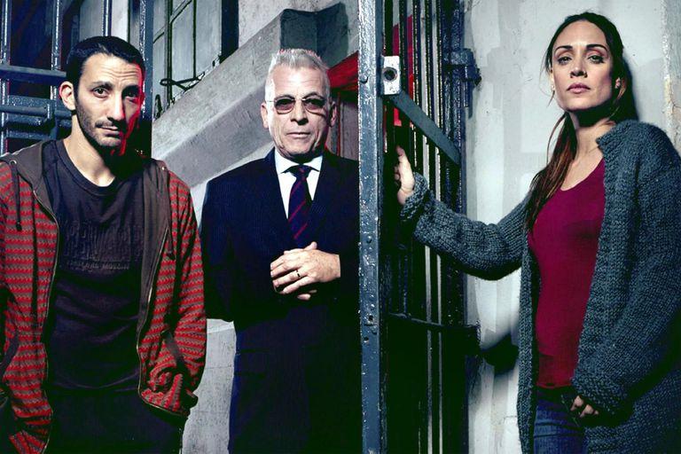 Juan Minujín, Gerardo Romano y Martina Gusman, protagonistas de la ficción estrenada en 2016