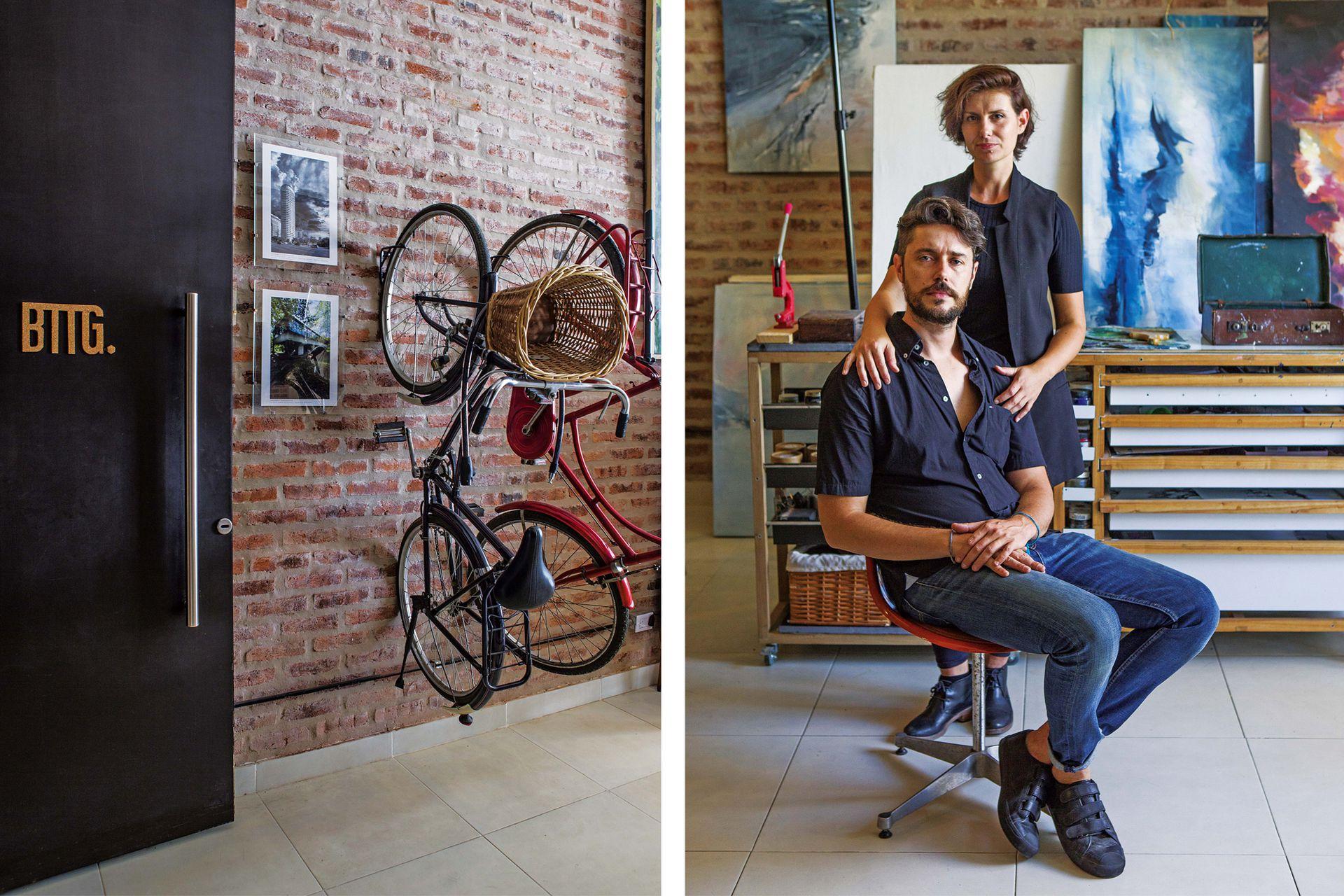 Anabella y Leonardo comparten referentes profesionales y la mirada sobre el diseño. A la vez, tienen actividades paralelas: ella es artista plástica y él, fotógrafo y ebanista.