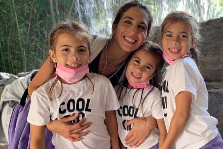 Cinthia Fernández es mamá de las gemelas Charis y Bella, y de Francesca, fruto de su relación pasada con el futbolista Marías Defederico