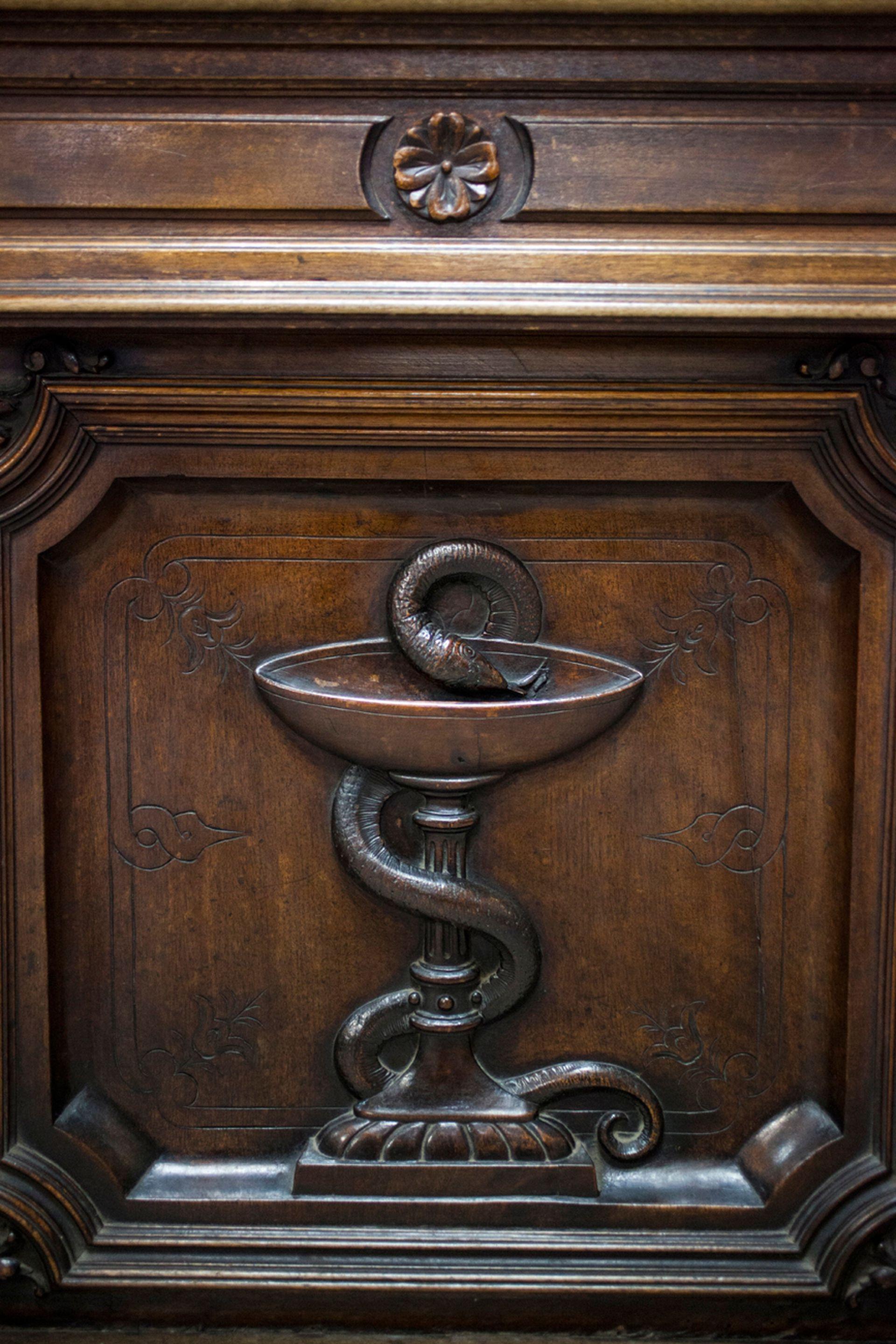 Copa de Higía, símbolo de la farmacia.