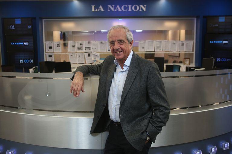D''Onofrio en su visita al diario LA NACION