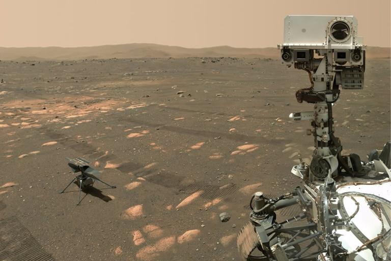El robot Perseverance, que tiene el tamaño de un automóvil, aterrizó de manera segura en la superficie marciana el 18 de febrero pasado