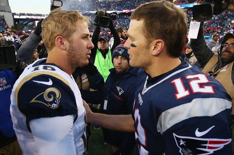 Jared Goff y Tom Brady, protagonistas de un gran duelo este domingo en Atlanta