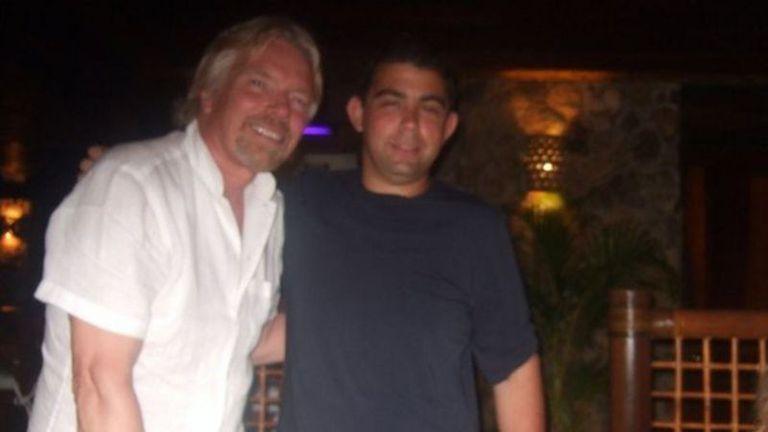 Michael conoció a muchos de sus ídolos durante su juventud, incluido Richard Branson