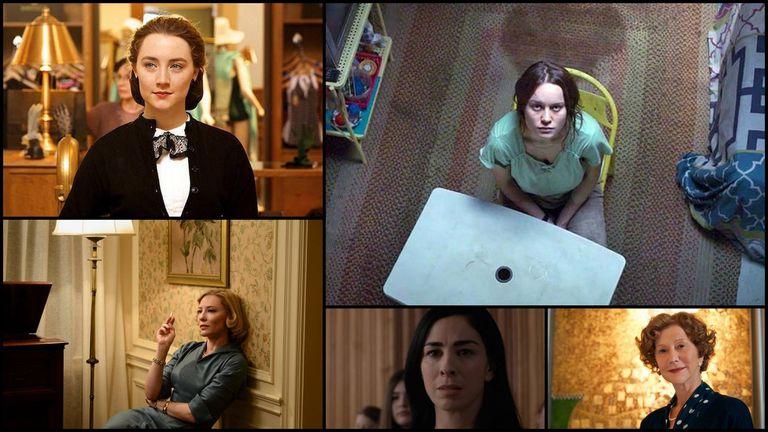 Mejor actriz: Saoirse Ronan, Brie Larson, Cate Blanchett., Sarah Silverman y Helen Mirren