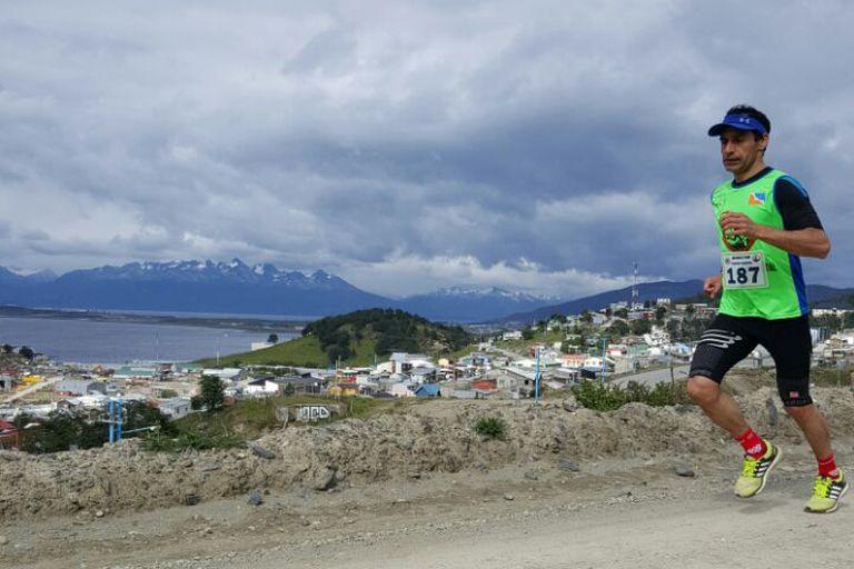 Norman Aravena en Maratón Glaciar Martial
