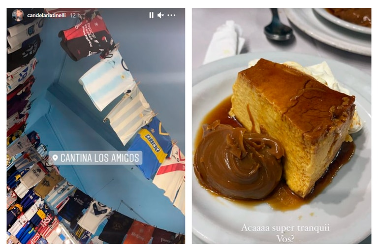 Cande Tinelli eligió una cantina del barrio porteño de Villa Crespo para ir a cenar tras su incidente doméstico
