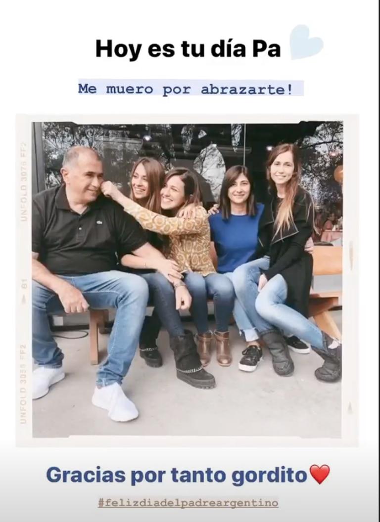 Antonela Roccuzzo compartió una foto también para su papá.
