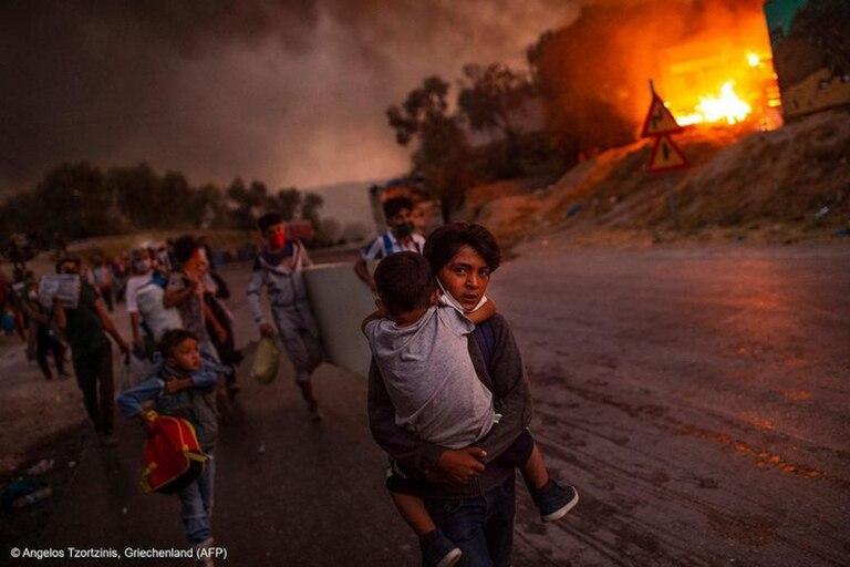 Dramática: la imagen de niños refugiados que Unicef premió como Foto del Año