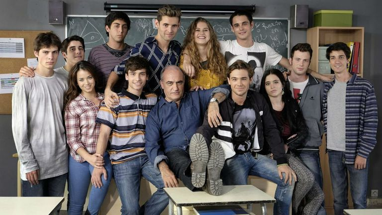 El elenco de la serie catalana Merlí