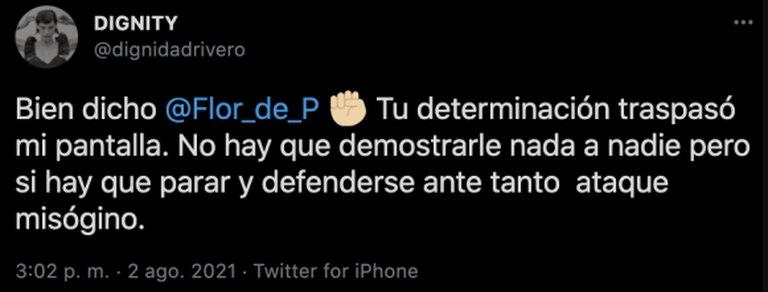 El respaldo de Calu Rivero a Florencia Peña