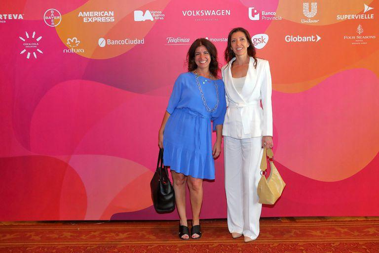 La broker Mariana Stange y María Poplawski
