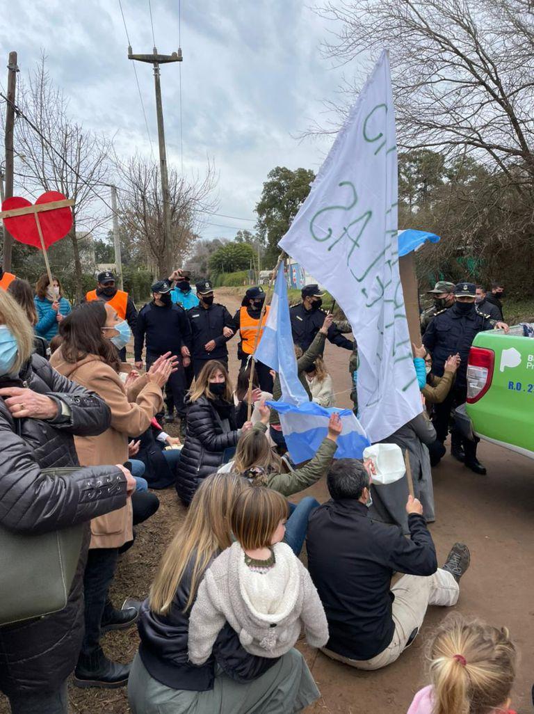 La protesta de los padres en contra de Kicillof