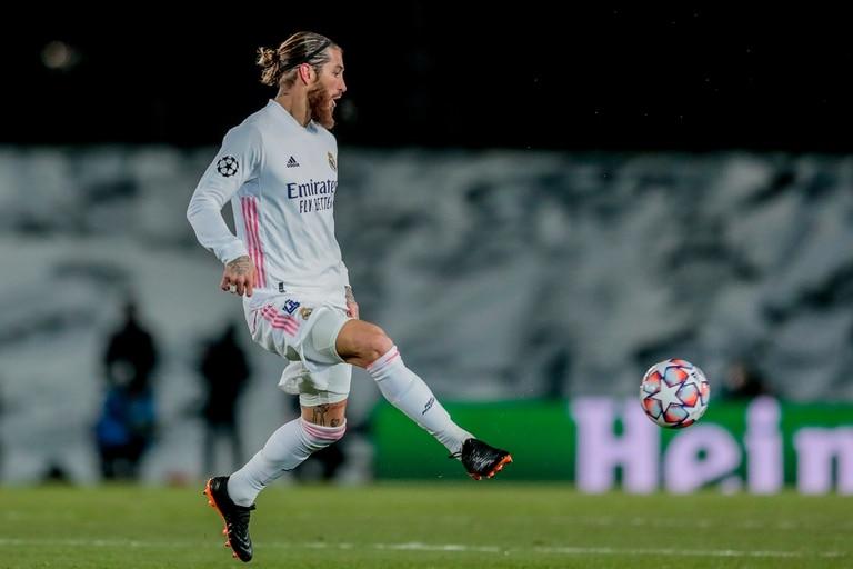 Sergio Ramos presente en la noche de Champions, en el Alfredo Di Stefano frente al Borussia Monchengladbach