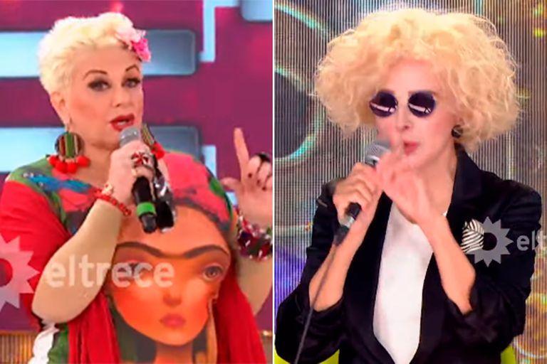 Cantando 2020: el inesperado cruce entre Carmen Barbieri y Nacha Guevara
