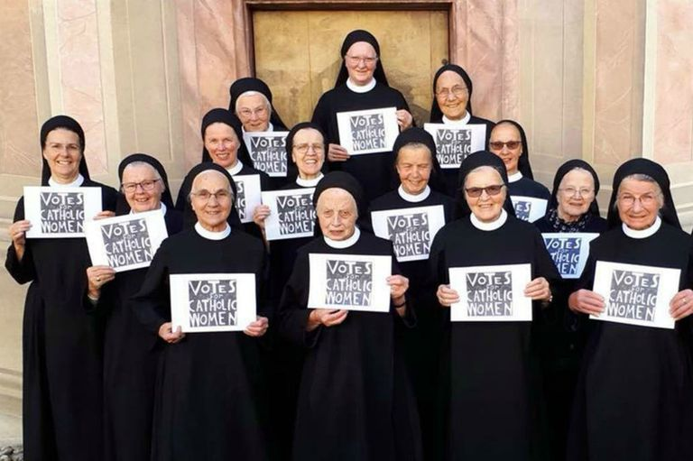 En Roma, un grupo de monjas reclama mayor participación de las mujeres en la Iglesia