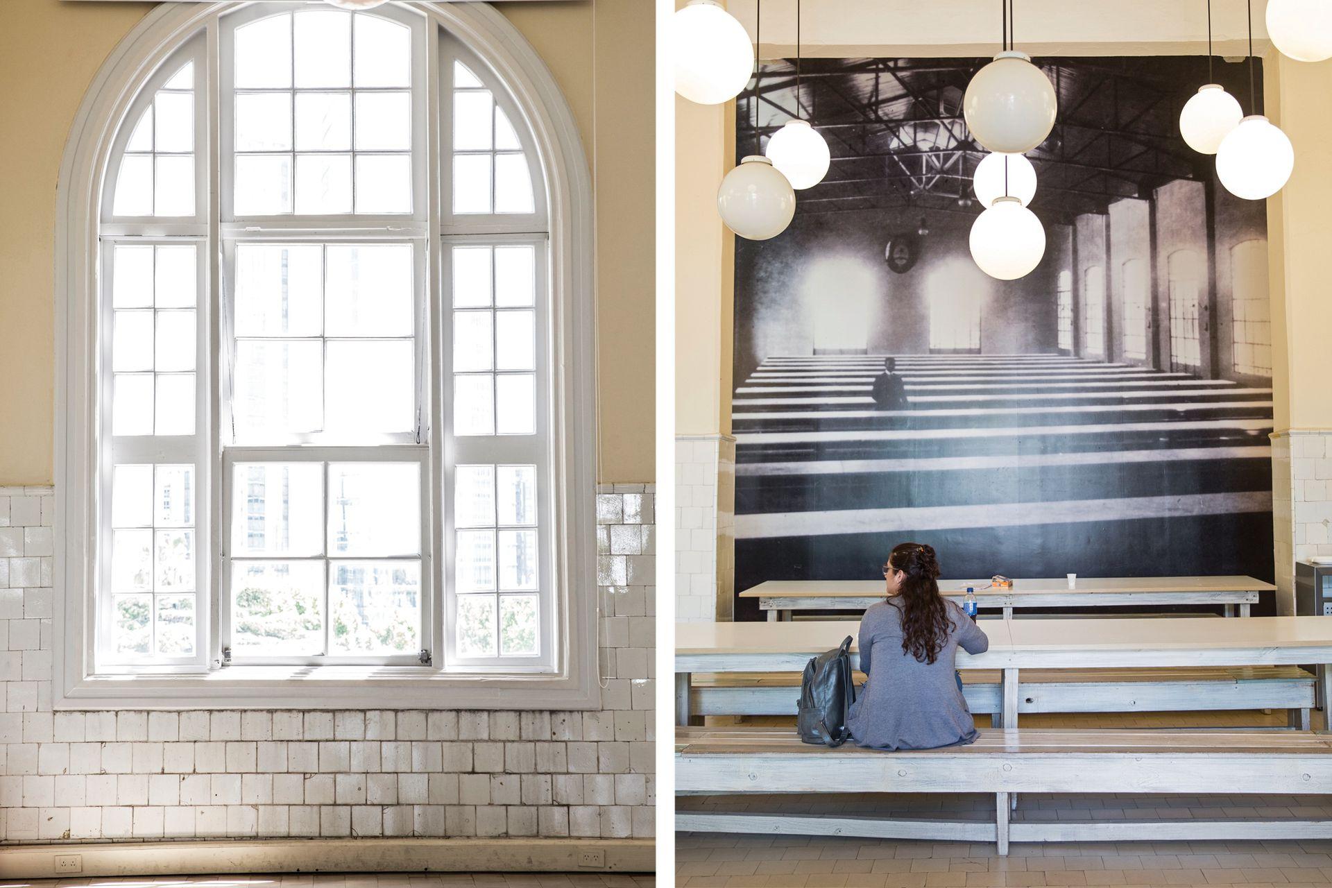 El museo propone un cruce interesante entre los espacios preservados como cuando funcionaba el Hotel y muestras de arte contemporáneo.