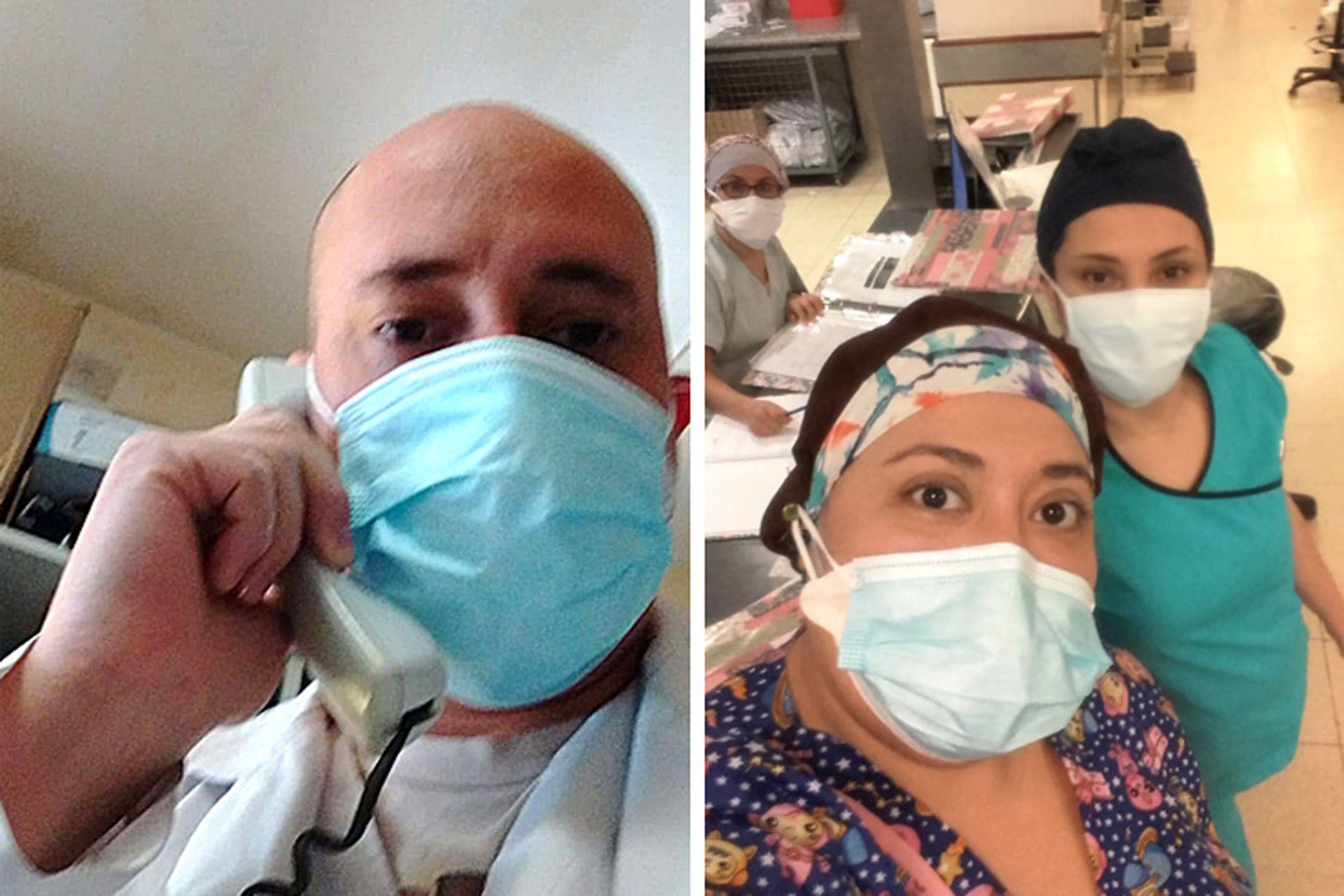 Posniak y Acosta, en sus días más difíciles frente a un número de pacientes que no cede