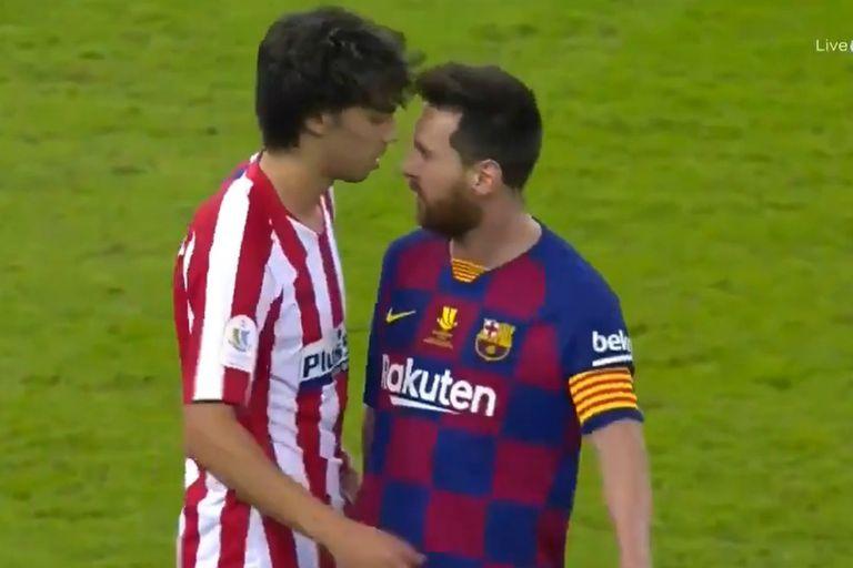 El cara a cara de Messi y Joao Félix