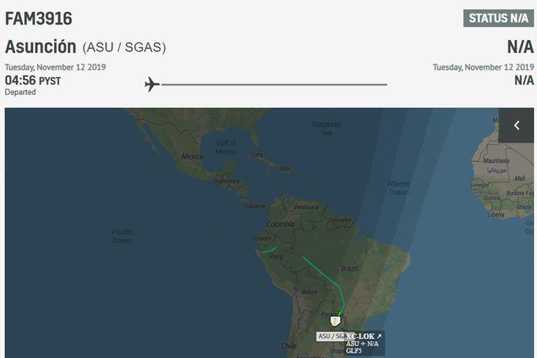 el gobierno mexicano debió cambiar el plan de vuelo ante la negativa de varios países de cruzar su espacio aéreo