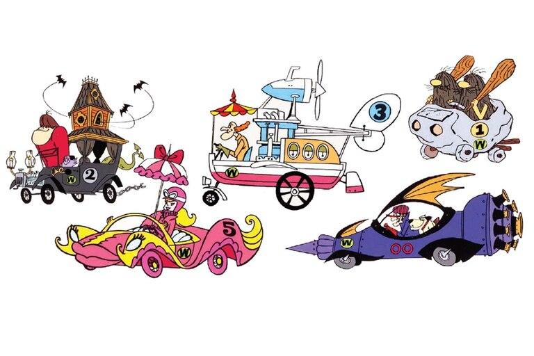 Algunos de los protagonistas de la serie animada.