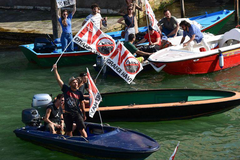 Venecia, en pie de guerra contra los megacruceros