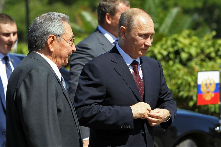 Putin con Raúl Castro en La Habana