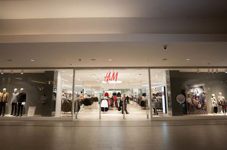 Uno de los locales de H & M de Santiago de Chile
