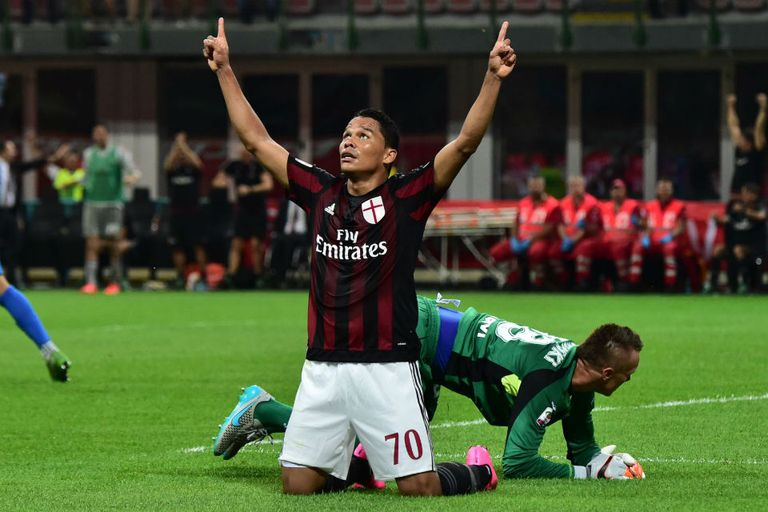 Carlos Bacca anotó su primer gol en Milan
