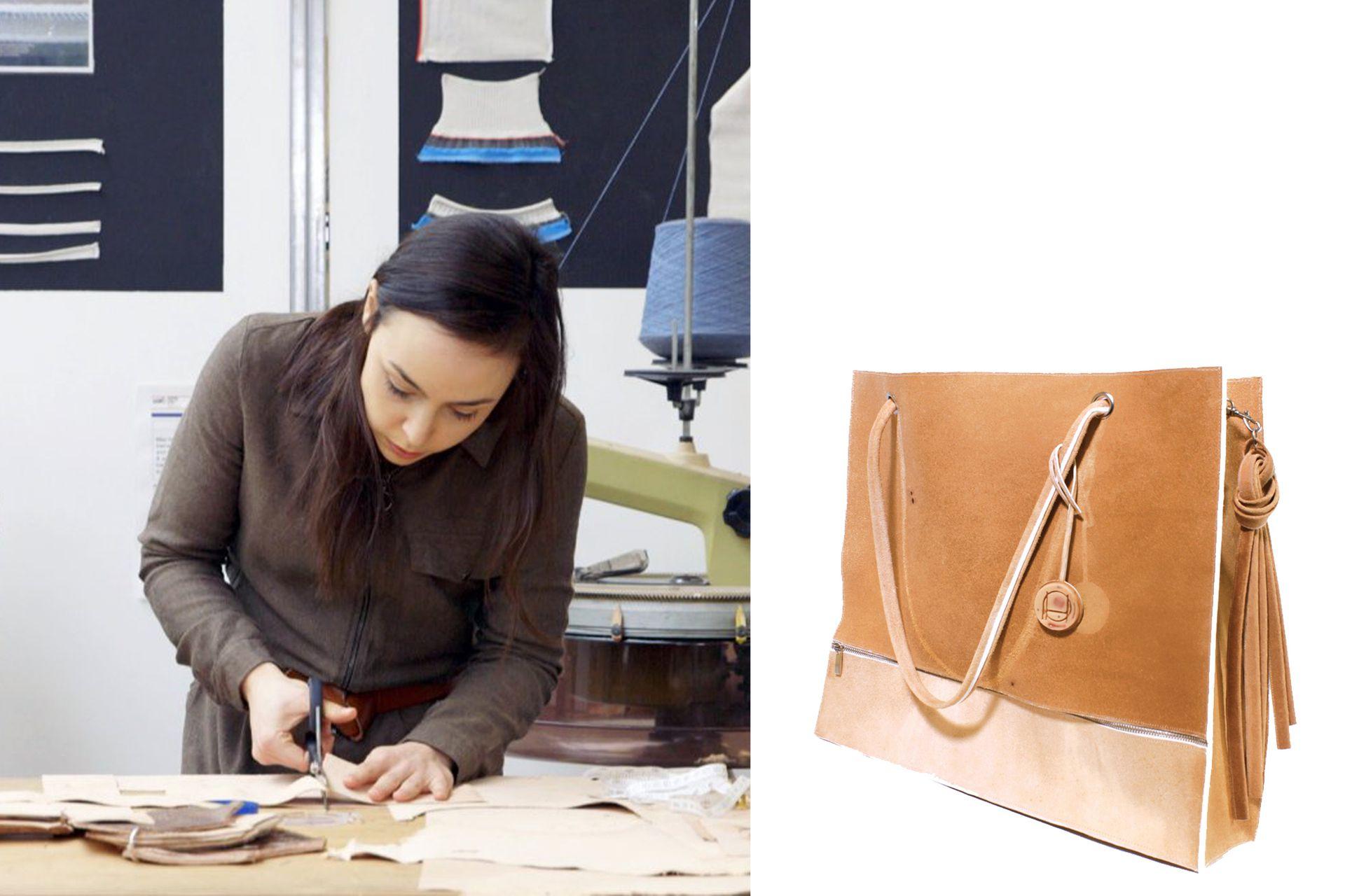 Tina Gorjanc se propuso producir un sustituto del cuero a partir de material genético del diseñador fallecido Alexander McQueen