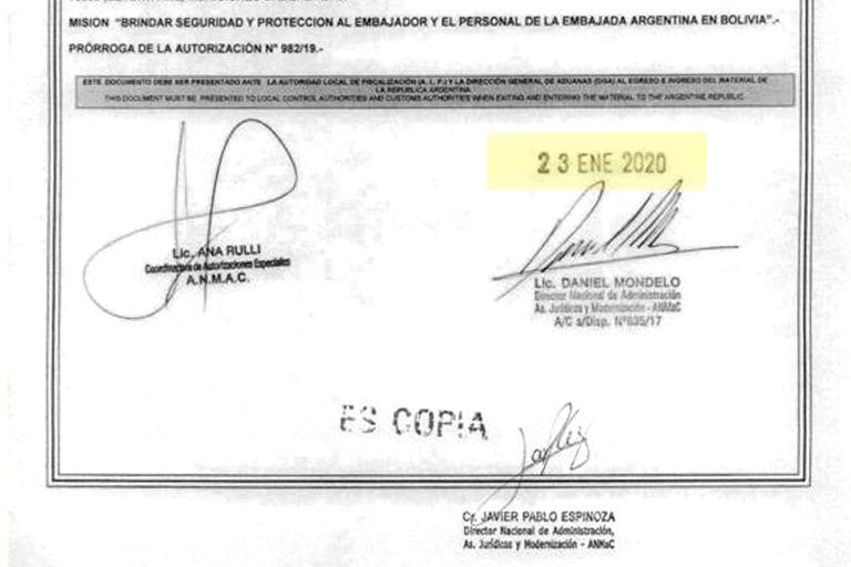 El documento de la ANMAC con la prórroga concedida