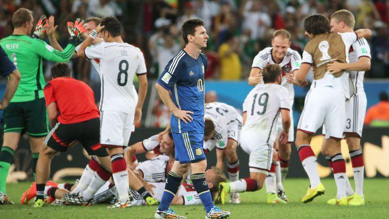 Alemania festeja ante sufrimiento de Messi
