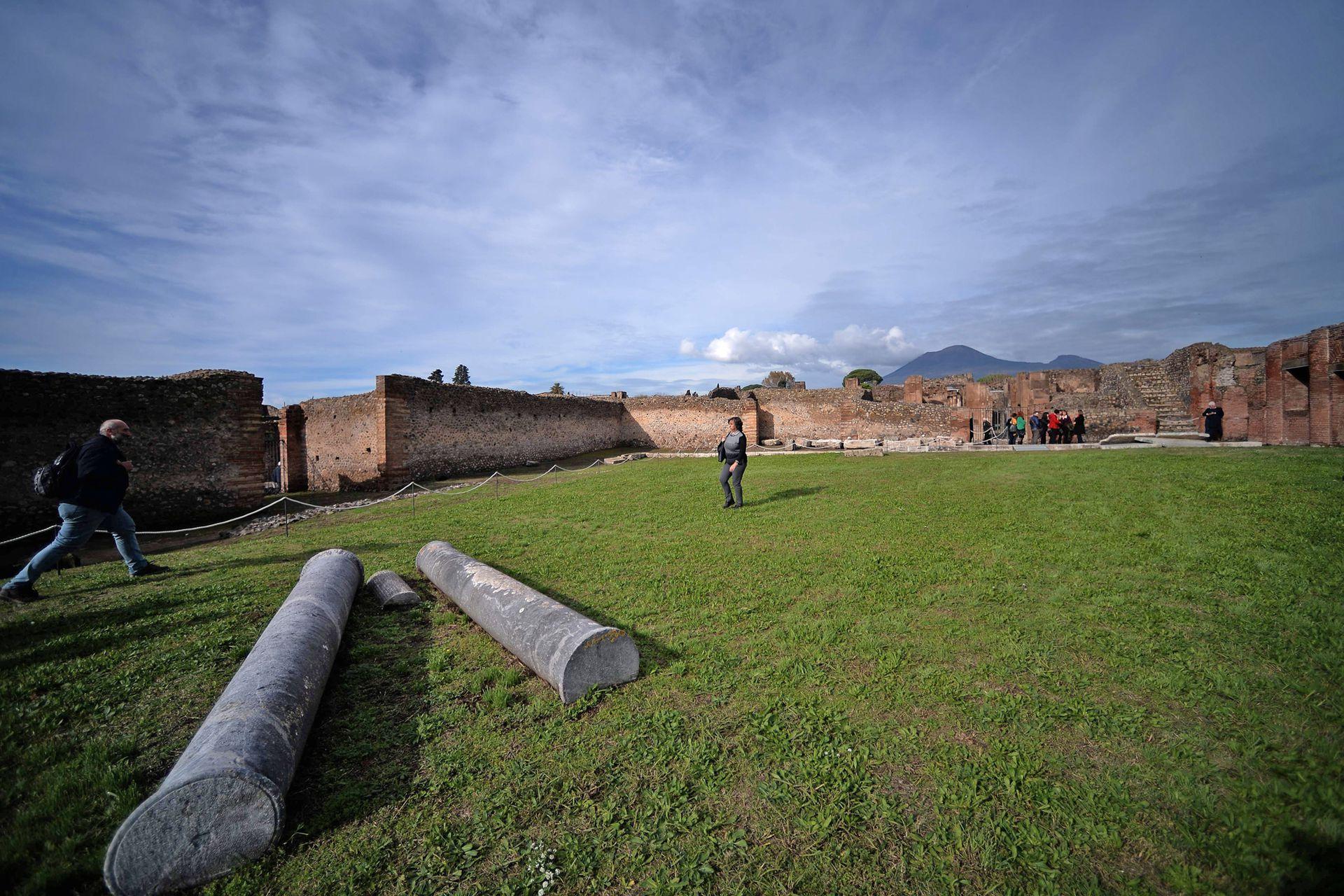 Los baños públicos están muy bien conservados: fueron diseñados para ser la joya de Pompeya, y están entre los edificios en mejor estado