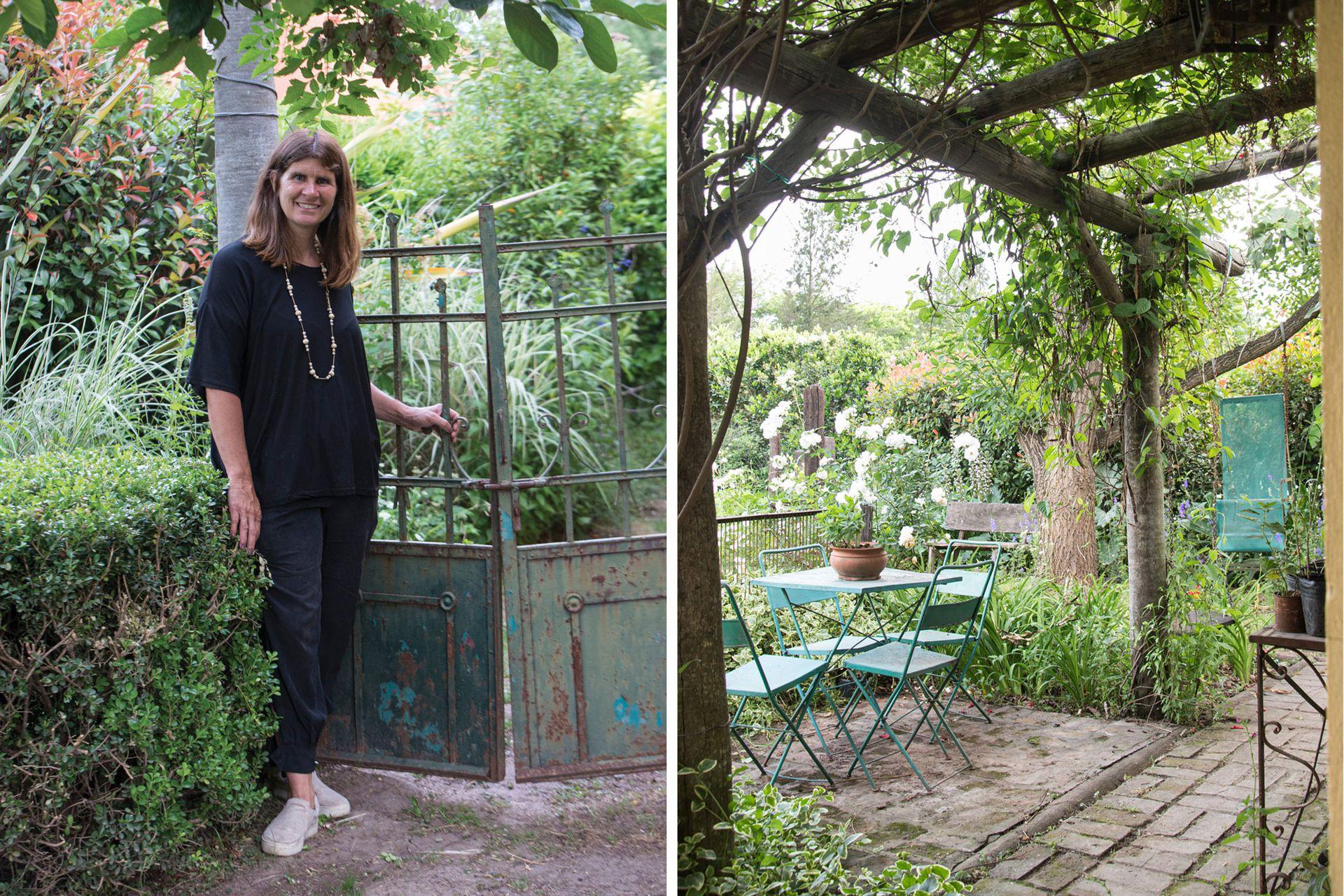 La paisajista Coki Naón vive a su parque como un centro de experimentación. Muchas de sus plantas son gajos o plantines compartidos entre los integrantes de los Grupo Jardín que asesora.