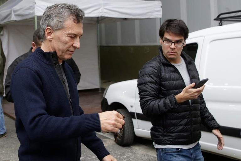 Mauricio Macri y Darío Nieto